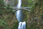 Bridge across Multnomah Falls, Columbia River Gorge, Oregon, USA