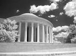 Infrared Black & White photo of Jefferson Memorial in Washington DC