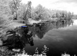 Infrared Black & White of peaceful scenes in Deep River Ontario Canada