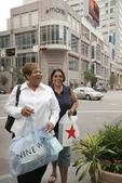 Ohio, Cincinnati, Fountain Square, smiling Black women, shopping bags, Macy's,