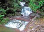 Triple waterfall Robert Treman State Park Ithaca, NY