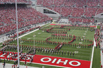 Ohio State University marching band at half time of football game