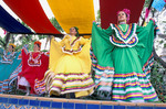 Female dancers at Cinco de Mayo celebration,  Old Town State Historic Park, San Diego, California
