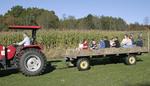 West Virginia, Greenbrier County, Frankford, Miller's 'Mazing Corn Maze, hayride,