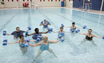 Alabama, Dothan, James W. Grant Recreation Center, indoor swimming pool, women's water aerobics class,