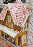Close-up of ginger bread house