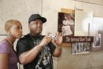 Black couple enjoying National Underground Railroad Center ni Cincinnati