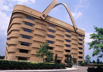 Longenberger company headquarters building shaped like a basket