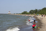 Kids playing at Mentor Headlands State Park Beach