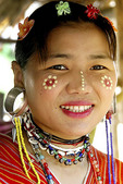 Woman in Thailand in traditional dress