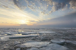 Lake Erie sunset in the winter