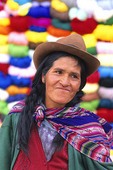 Guatemalan women with colorful background