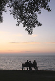 People enjoying sunset on Lake Erie in Mentor Ohio