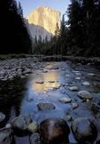 Merced river & El Capitain  in Yosemite national park, USA