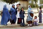 Afghanistan Women at Bus Stoprepresenting three generations