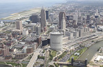 Cleveland, Ohio aerial view of city 2010