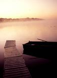 Dock at sun rise