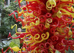 Paul Chihuly glass sculpture on display at Franklin Park Conservatory in Columbus, Ohio