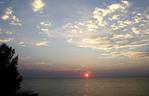 Sunset on lake Erie east of Cleveland, Ohio
