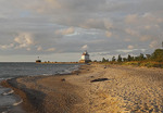 Mentor headlands state park with Grand river lighthouse in view