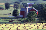 Country side in Ohio with AMish barn