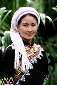 Yunnan woman in traditional costume in Kumming China
