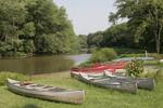 Canoes along the Cuyahoga River in Mantua, Ohio