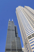 While the Willis Tower (formerly the Sears Tower)  dominates the south loop portion of the city skyline and is the tallest building in Chicago and North America (once the tallest in the world)