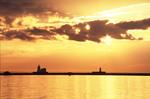 Cleveland Lighthouse on Lake Erie