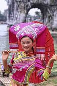 Local woman in traditional costume portrait of beautiful lady in Guilin area of China