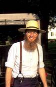 Colorful portrait of Amish man Intercourse Pennsylvania