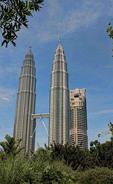 Kuala Lumpur Malaysia modern city Gigantic Twin Towers largest world high skyscraper