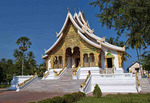 Luang Phabang National Museum with gold and wonderful architecture temple in Laos Loa Asia