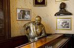 Famous Hemingway statue at his favorita bar called Floridita in central Havana Habana Cuba