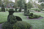Topiary garden at Columbus School of the Blind