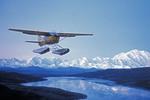 Seaplane landing in Alaska