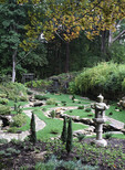 Japanese gardens at Stan Hywet Hall and gardens in Akron, Ohio