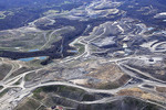 Aerial photo, Mountain Top Removal Coal Mining site, near Cowen,  West Virginia, USA
