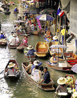 Damnoen Saduak River in Bangkok, Thailand