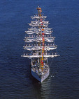 Gloria, Columbia.  Square Rigger sailing training ship
