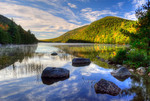 Morning on Bubble Pond in Acadia National Park, Maine USA,