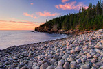 Otter Cliffs from the cobblestone beach in Acadia National Park, Maine