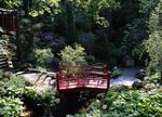 Bridge in Japanese garden at Cleveland Botanical Gardens