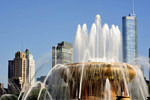 The top of the Clarence Buckingham Fountain, a staple in Grant Park and downtown Chicago since 1927.
