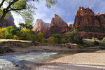 Afternoon in the Court of the Patriarchs, Zion National Park