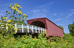 Winterset Iowa bridge famous Bridges of Madison County and Roseman Bridge
