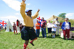Black male, performing Scottish war dance, reenactment at Fort Meigs Historic Site
