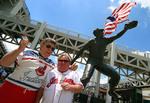 Fans outside Progressive field  home of Cleveland Indians baseball