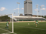 Soccer practice at Cleveland Sate University in Cleveland, Ohio