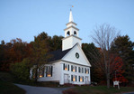 Goshen Community Church, Goshen New Hampshire, evening